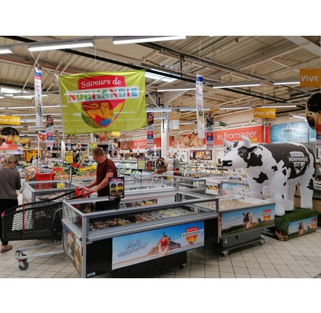 Opération Carrefour Market Courseulles sur Mer