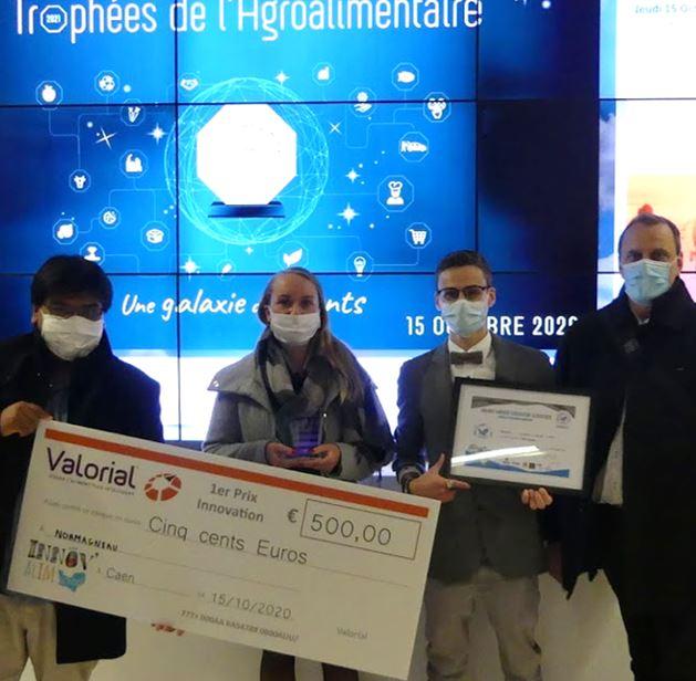 Les lauréats d'Innovalim School valorisés lors des Trophées de l'agroalimentaire
