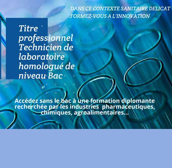 Découvrez la formation Technicien de laboratoire niveau Bac
