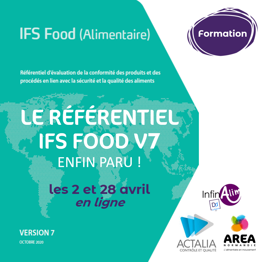 Formation Comprendre les enjeux et exigences de l'IFS Food les 2 et 28 avril