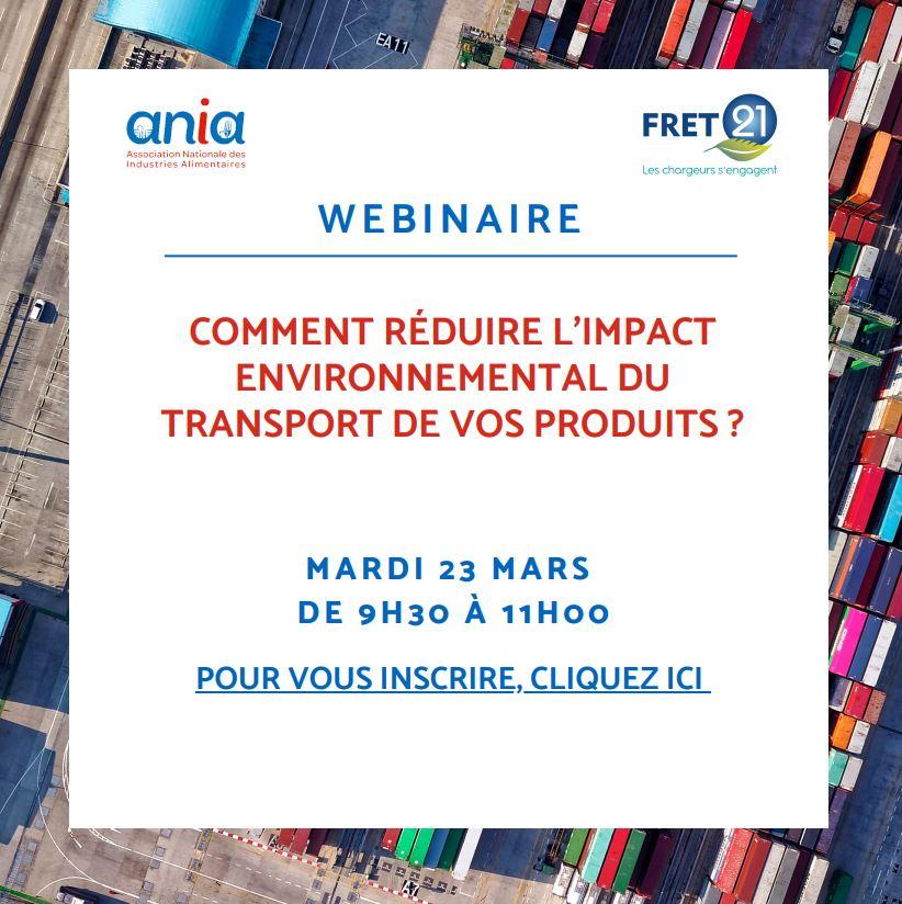 WEBINAIRE «Comment réduire l'impact environnemental du transport de vos produits ?» le 23 mars