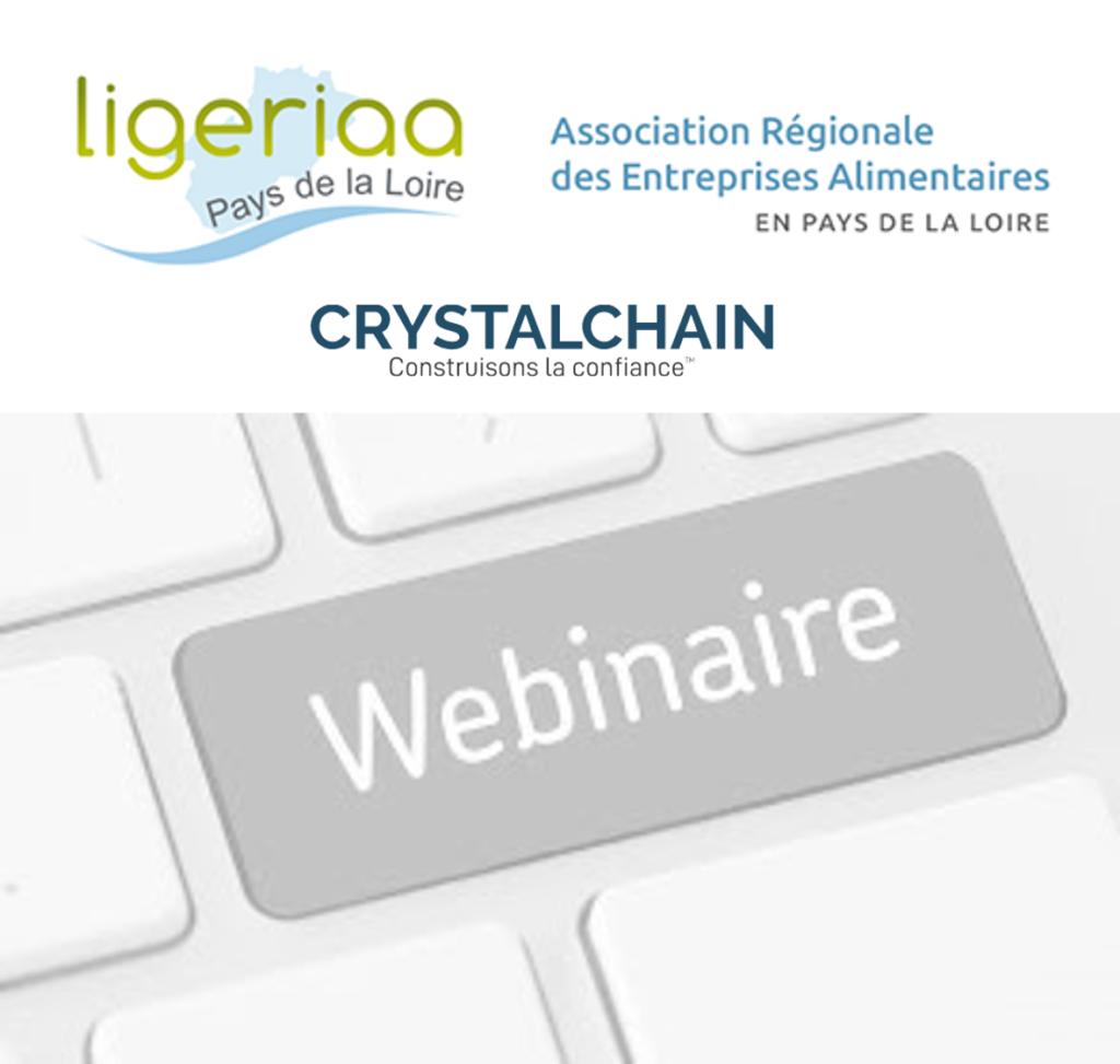Webinaire LIGERIAA #13 «Traçabilité blockchain» le 31 mars