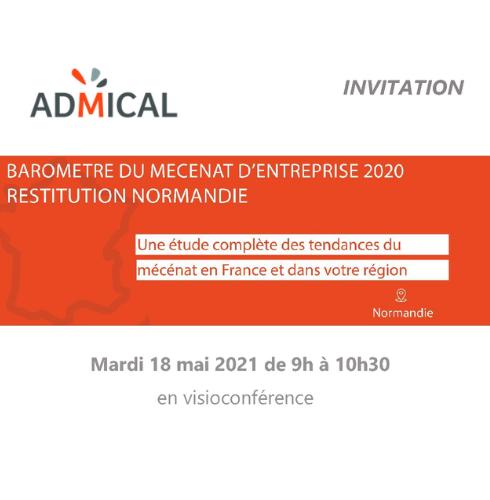 Invitation Restitution du Baromètre MECENAT d'entreprise 2020