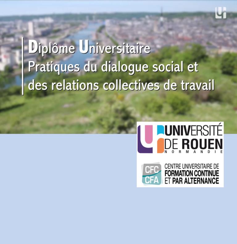 Découvrez le diplôme universitaire «Pratiques du dialogue social et des relations collectives de travail»