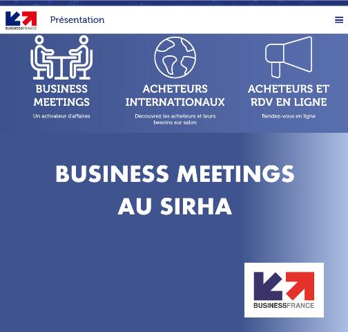 Business meetings au SIRHA