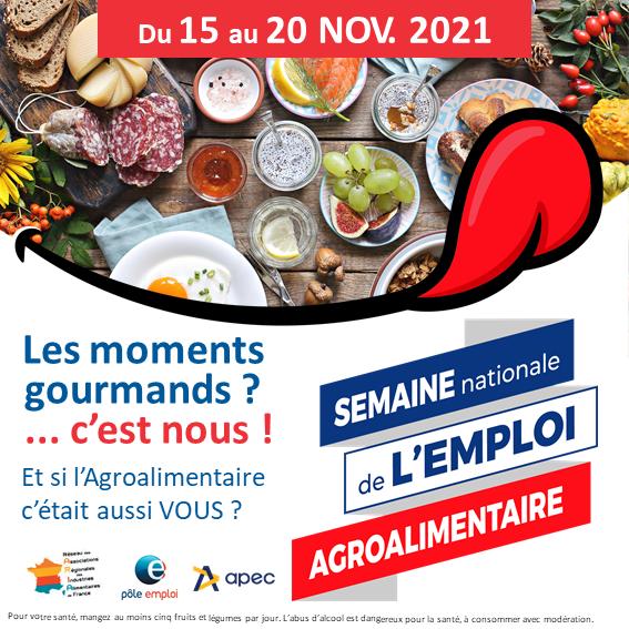 La semaine nationale de l'emploi agroalimentaire du 15 au 20 novembre
